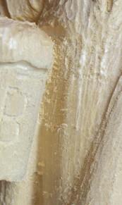 Glatte Oberfläche eines Schnitzrohlings