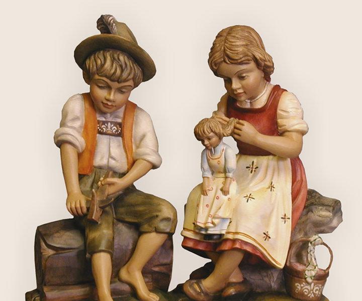 Junge & Mädchen - Holzrohling