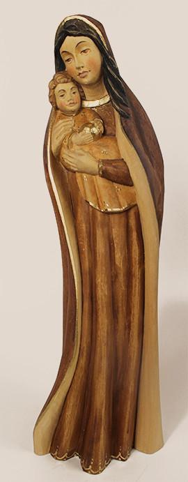 gebeizte Holzfigur