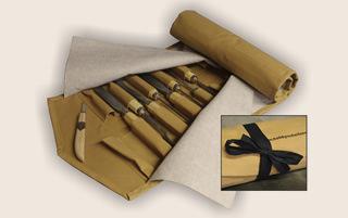 Schnitzwerkzeugtasche für Messer
