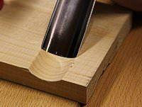 Normale Schnittführung Messer Holzschnitt