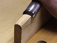 Holzschnitt Schnitzmesser gedreht