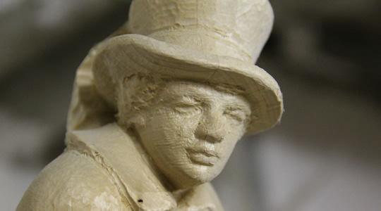 Holzrohling - Mann mit Hut