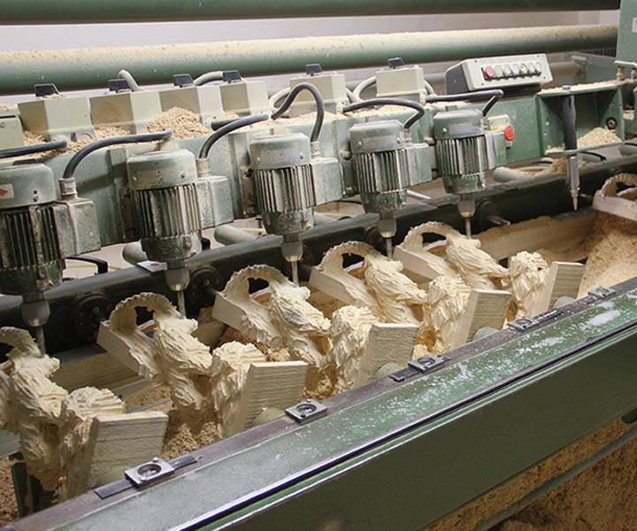 Fräsmaschine ausgearbeiteter Rohling